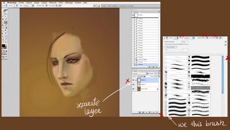 Как нарисовать партрет красками по